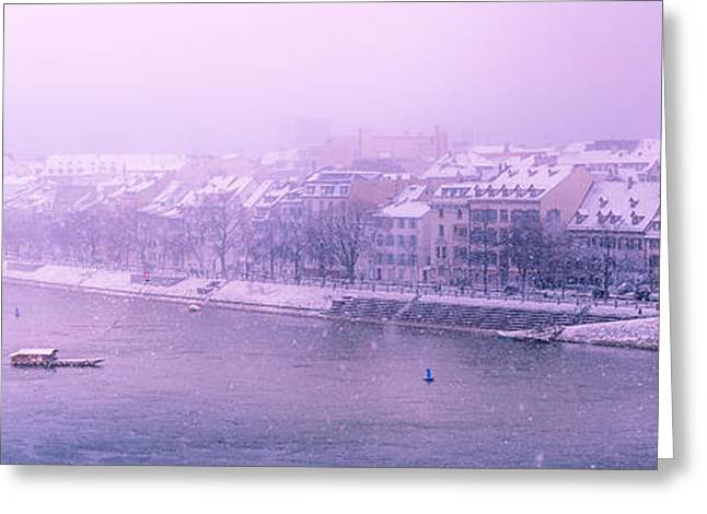 Snowy Day Greeting Cards - Dreamy Winterscape Greeting Card by Yuri Fineart