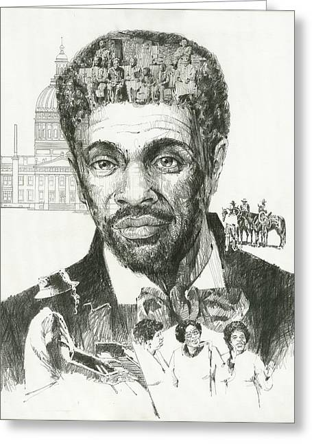 Civil Rights Activists Greeting Cards - Dred Scott Greeting Card by Don  Langeneckert