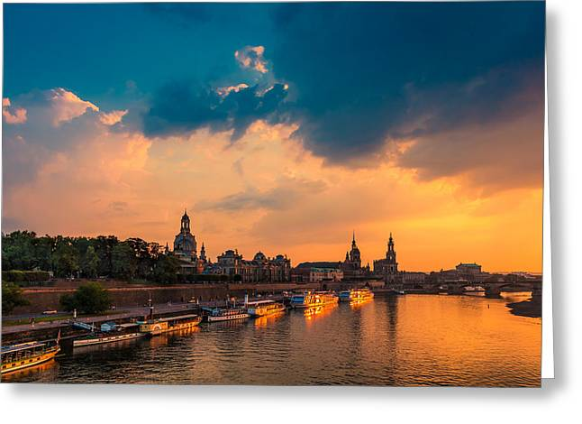 Dresden Greeting Cards - Dresden 02 Greeting Card by Tom Uhlenberg