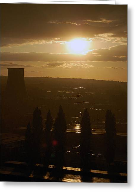 Dresden Greeting Cards - Dresden at Sunset Greeting Card by Peter Cassidy