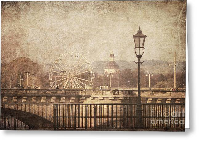 Wheel Pyrography Greeting Cards - Dresden Greeting Card by Jelena Jovanovic