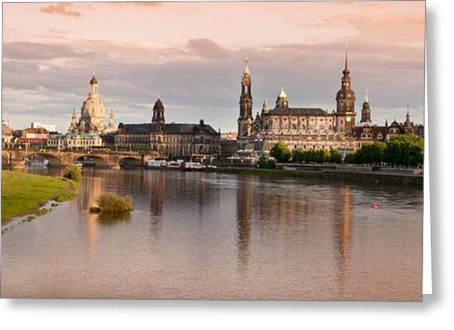 Deutschland Greeting Cards - Dresden Panorama  Greeting Card by Bianca McCarty