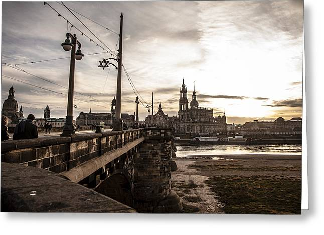 Barock Greeting Cards - Dresden skyline Greeting Card by Maria Conceicao Pires