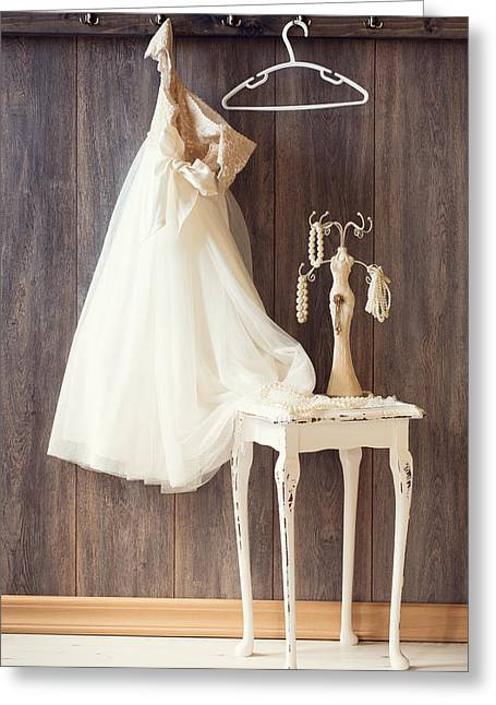 Coat Hanger Greeting Cards - Dress Greeting Card by Amanda And Christopher Elwell