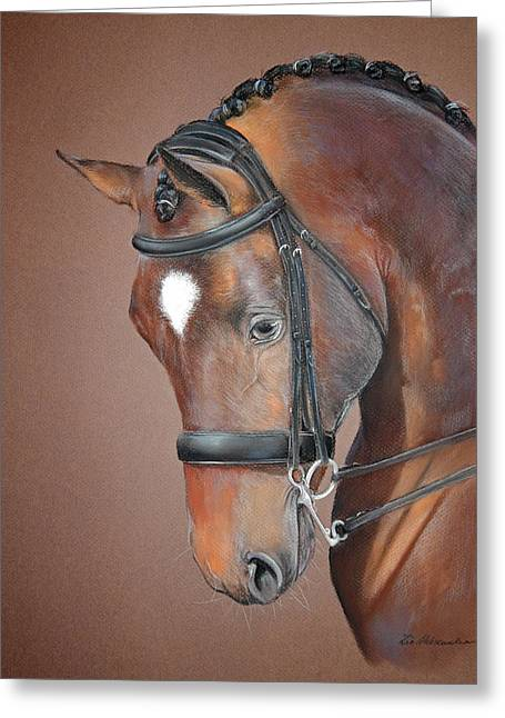 Dressage Pastels Greeting Cards - Dressage Greeting Card by Aleksandra Zin