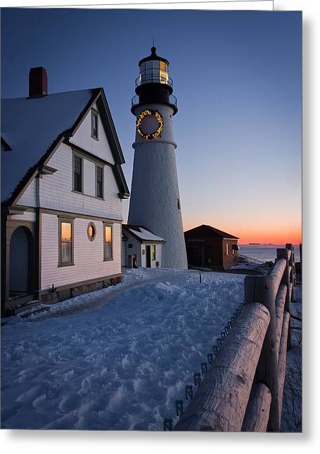 Maine Icons Greeting Cards - Dressed for the Holidays Greeting Card by Benjamin Williamson