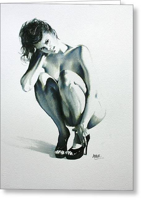 Figure Drawing Greeting Cards - Dressed to Kill Greeting Card by Pauline Adair
