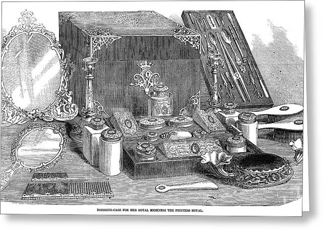 Dressing Case, 1858 Greeting Card by Granger