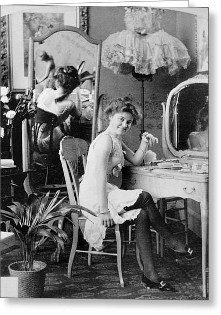 Dressing Room, C1900 Greeting Card by Granger