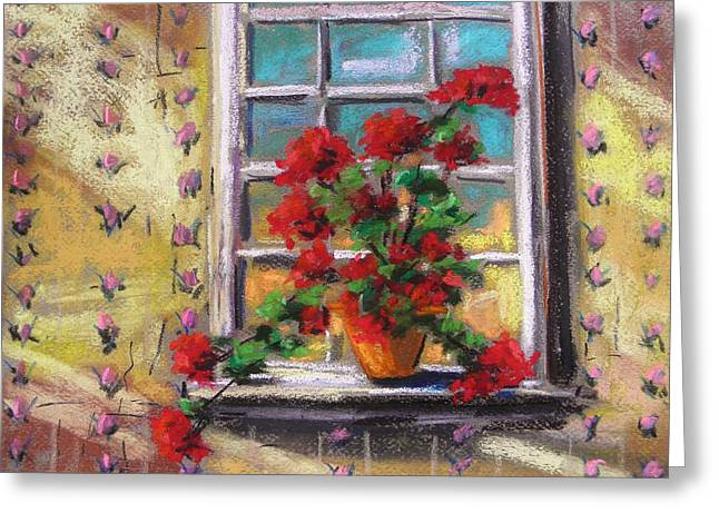 Dressing Room Drawings Greeting Cards - Dressing Room Window Greeting Card by John  Williams