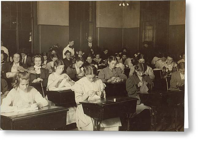 Dressmaking Class, 1909 Greeting Card by Granger