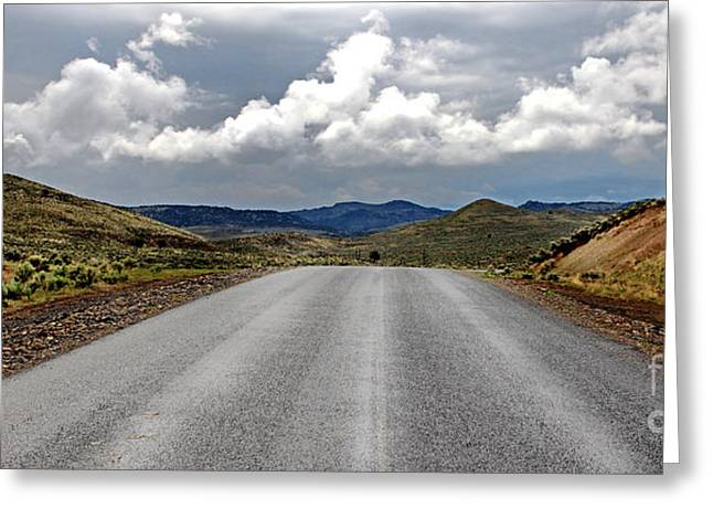 Michele Greeting Cards - Drewsey Oregon Road Greeting Card by Michele AnneLouise Machholz