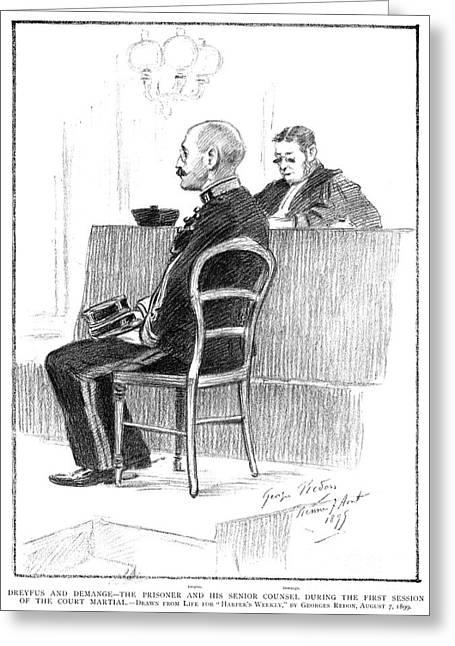 Defendant Greeting Cards - Dreyfus Affair 1899 Greeting Card by Granger