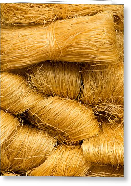 Noodles Greeting Cards - Dried Rice Noodles 03 Greeting Card by Rick Piper Photography