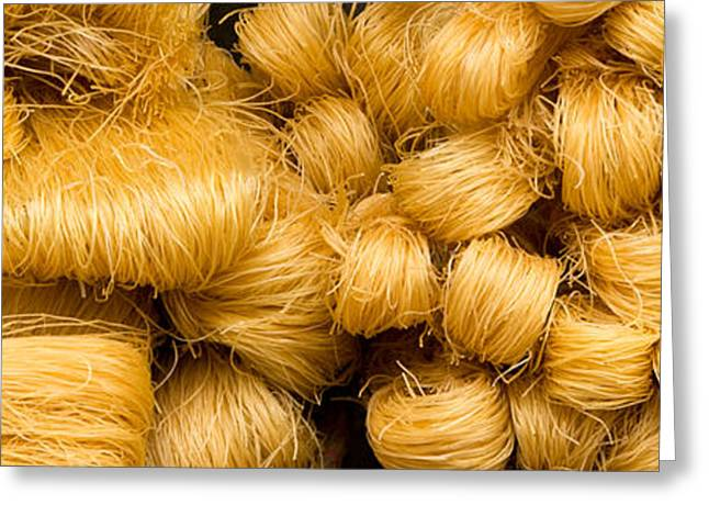 Noodles Greeting Cards - Dried Rice Noodles 05 Greeting Card by Rick Piper Photography