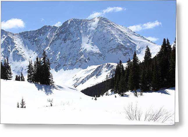 Snow Drifts Greeting Cards - Drift Peak Greeting Card by Eric Glaser