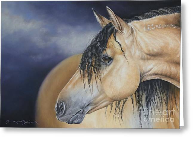 Ranch Pastels Greeting Cards - Drifter Greeting Card by Joni Beinborn