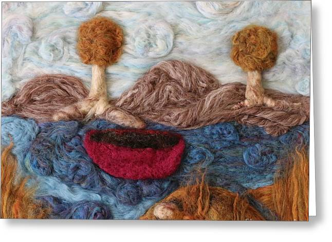 Photograph Tapestries - Textiles Greeting Cards - Drifting Away Greeting Card by Shakti Chionis