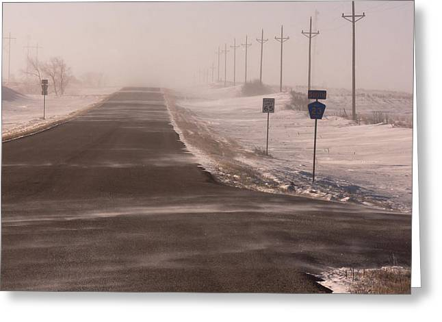 Drifting Snow Greeting Cards - Drifting County 23 Greeting Card by Wayne Vedvig