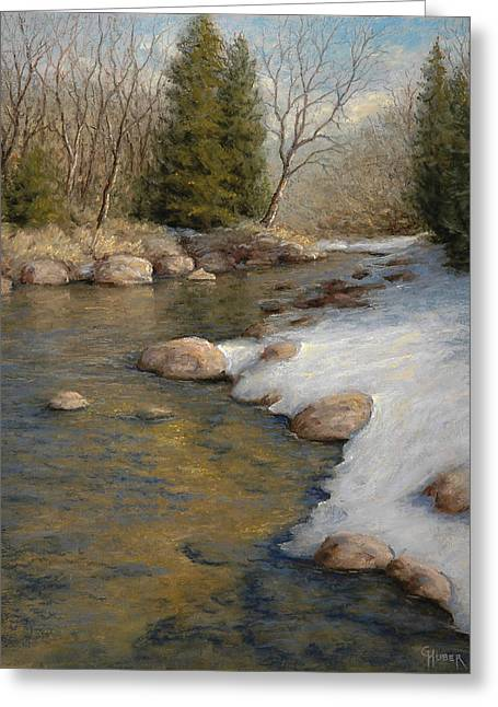 Spring Pastels Greeting Cards - Drifting into Spring Greeting Card by Gary Huber