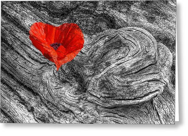 Drifting - Love Merging Greeting Card by Gill Billington
