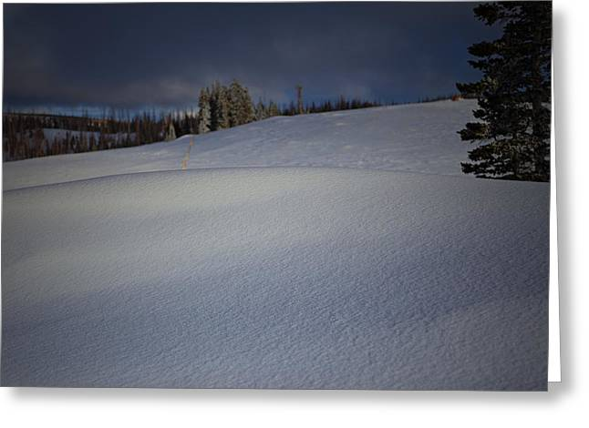 Snow Drifts Greeting Cards - Drifting  Greeting Card by Mark  Ross