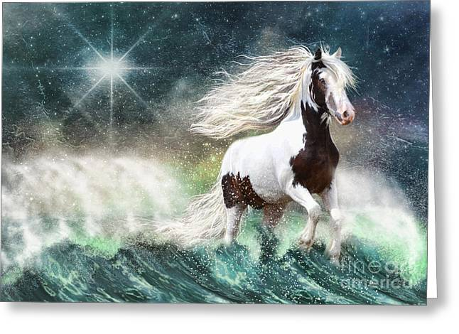 Gypsy Cob Greeting Cards - Drifting with the Tides Greeting Card by Trudi Simmonds
