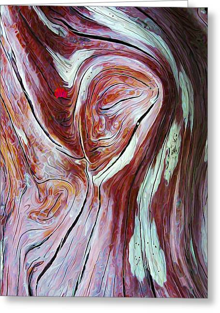 Abstract Digital Digital Art Greeting Cards - Driftwood 6 in Shades of Burgundy Greeting Card by Bill Caldwell -        ABeautifulSky Photography
