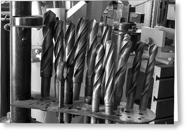 Drill Bits Greeting Card by Steven Ralser