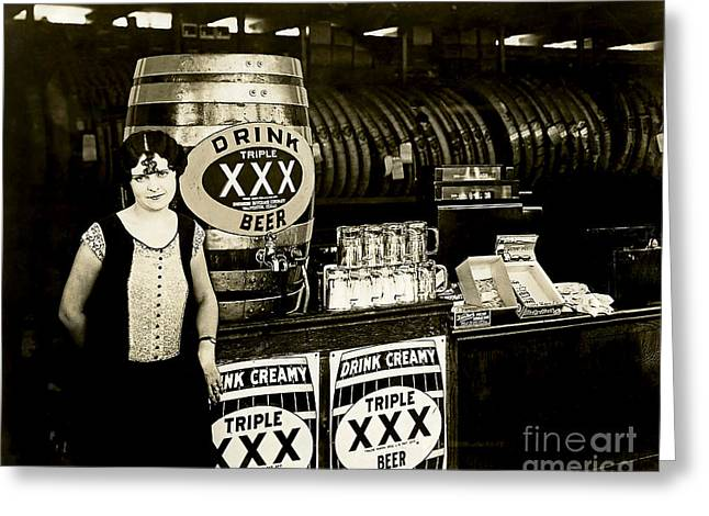 1930s Greeting Cards - Drink Beer Greeting Card by Jon Neidert