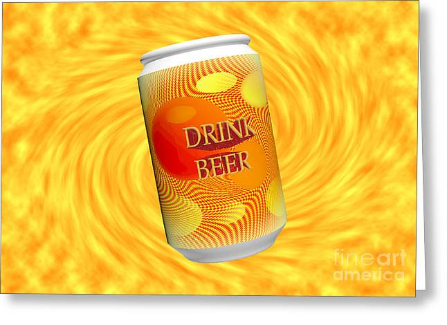 Cerveza Greeting Cards - Drink Beer  Greeting Card by Rob Hawkins