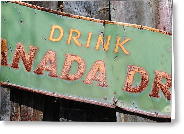 Samantha Greeting Cards - Drink Canada Dry Greeting Card by Samantha Black