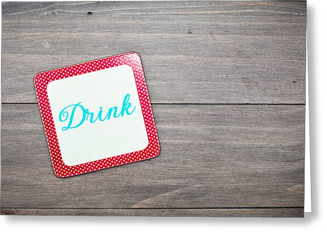 Wooden Coaster Greeting Cards - Drink coaster Greeting Card by Tom Gowanlock