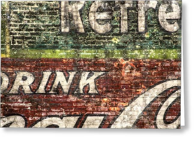 Drink Coca-Cola 1 Greeting Card by Scott Norris