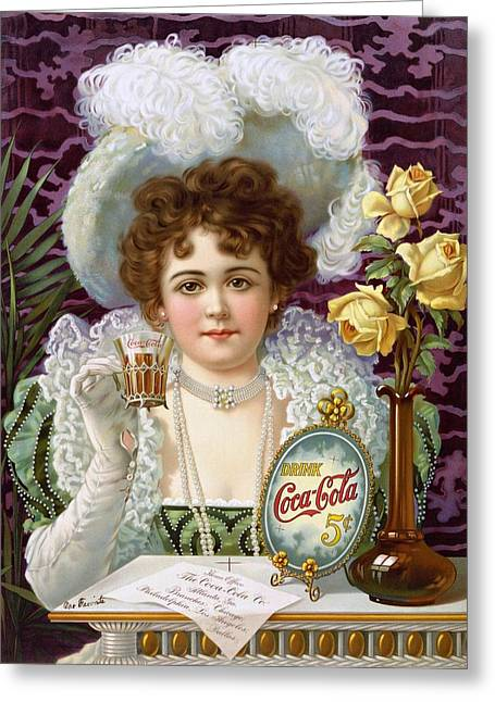 Drink Coca Cola 5cents Greeting Card by Movie Poster Prints