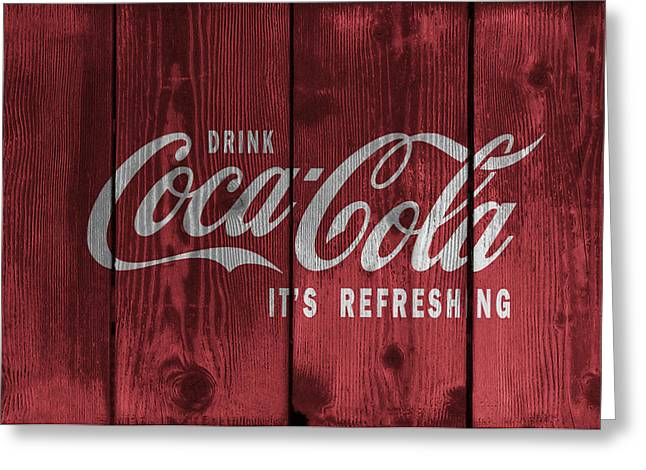 The Real Thing Greeting Cards - Drink Coca Cola Greeting Card by Daniel Hagerman