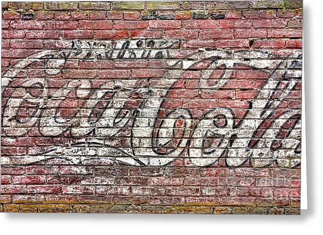 Drink Coca Cola Greeting Card by Olivier Le Queinec