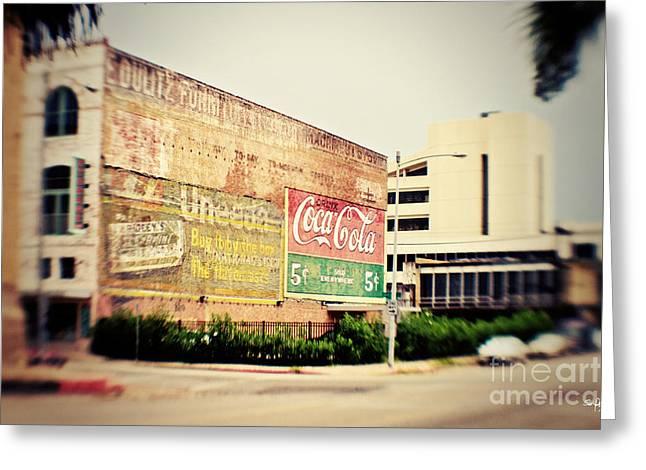 Drink Coca Cola Greeting Card by Scott Pellegrin
