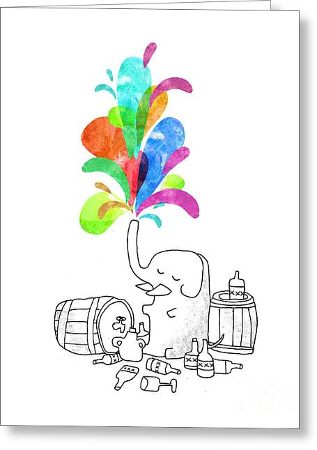 Fountain Greeting Cards - Drink Drank Drunk Greeting Card by Budi Satria Kwan