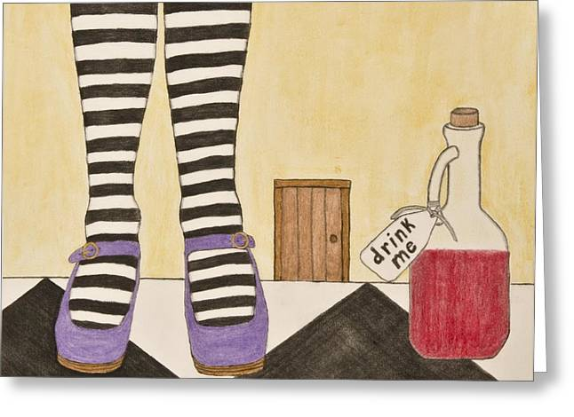 Original work Pastels Greeting Cards - Drink me Greeting Card by Sean Mitchell