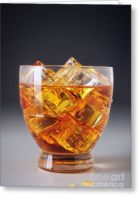 Shot Glass Greeting Cards - Drink on ice Greeting Card by Carlos Caetano