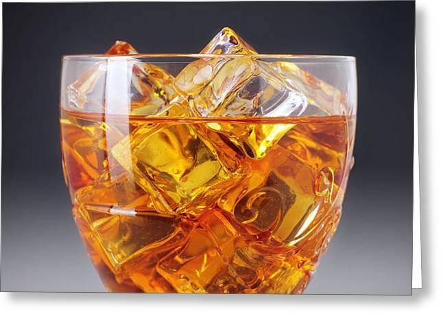 Drink on ice Greeting Card by Carlos Caetano