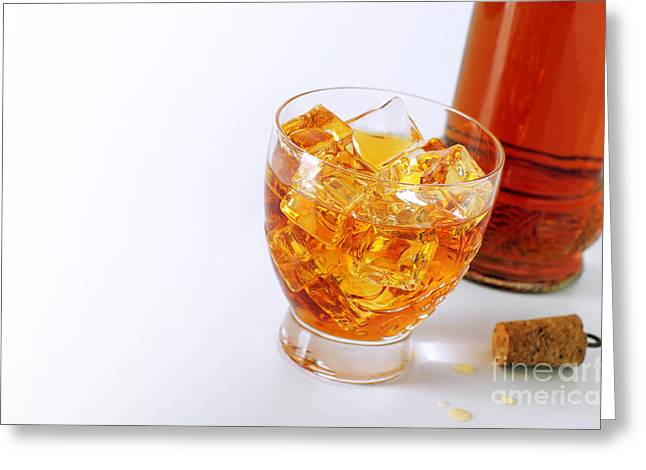 Booze Photographs Greeting Cards - Drink on the rocks Greeting Card by Carlos Caetano