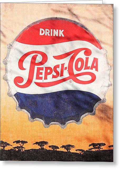 Drink Pepsi  Greeting Card by Donna Kennedy