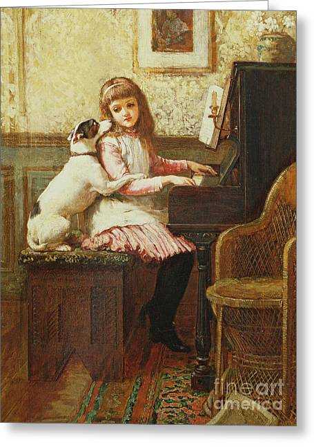 Domestic Scene Greeting Cards - Drink to me only with Thine Eyes Greeting Card by Charles Trevor Garland