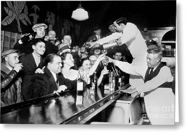 Prohibition Greeting Cards - Drink Up Greeting Card by Jon Neidert
