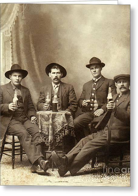 Drinking Buddies Greeting Card by Jon Neidert