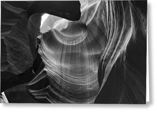 Dineh Greeting Cards - Drinking from the Fountain Antelope Canyon Navajo Nation Page Arizona Greeting Card by Silvio Ligutti