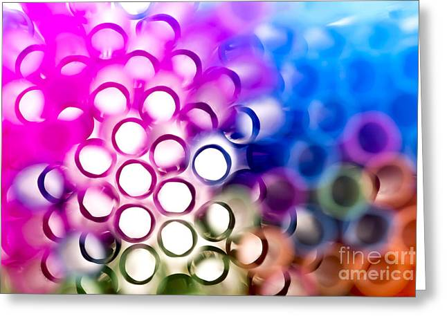 Vibrant Greeting Cards - Drinking straws 1 Greeting Card by Jane Rix