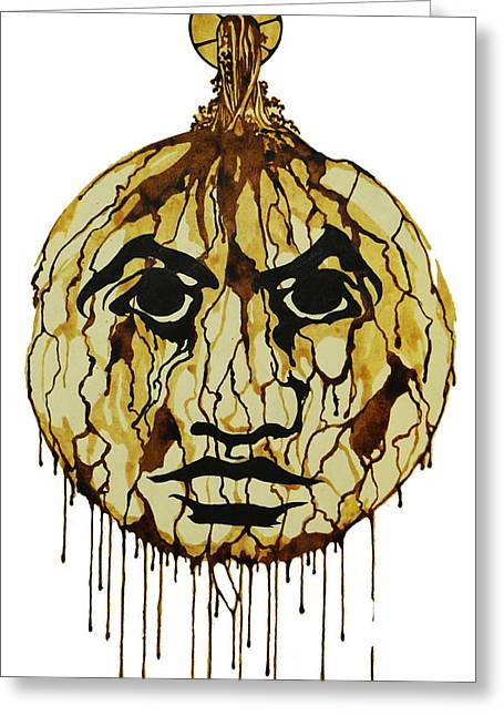 Drip Drawings Greeting Cards - Drips Greeting Card by Daniel P Cronin